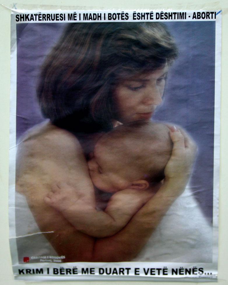 Kjo fotografi është e vendosur në sallën e aborteve në QKUK